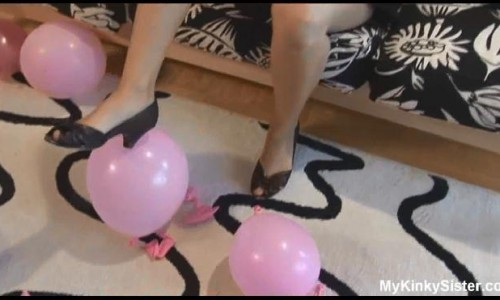 My Twin Sister Popping Balloons With Her Shoes Mykinkysister my Best Fetish Tiffany Preston