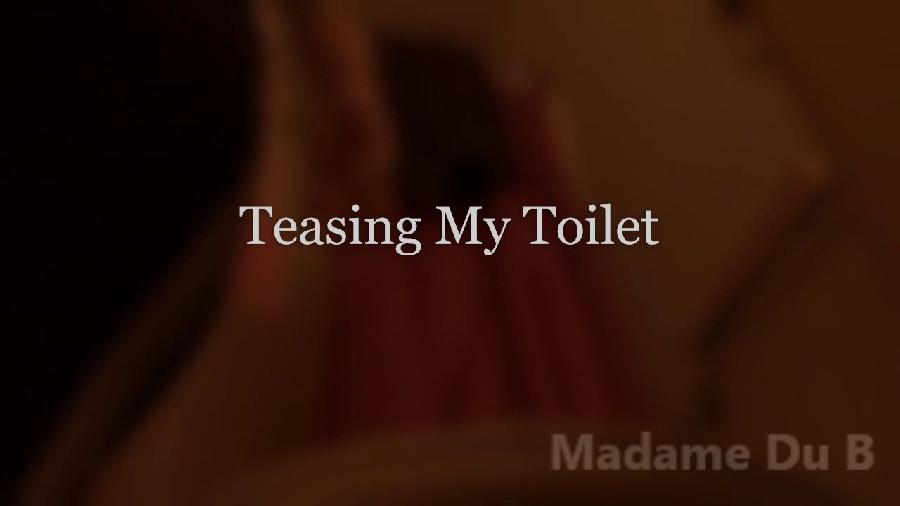 teasing my toilet madamedub